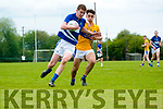 Connor Clark (Laune Rangers) in action agains Brian O'Donoghue (Glenflesk) at the Intermediate Club Championship in Glenflesk last Sunday. Final score Glenflesk 0-13, Laune Rangers 3-07.