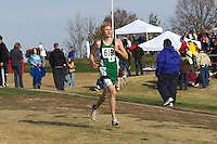 Andrew Moore runs with 800 meters to go in the Class 3 Boys Race at the State Cross Country Championships in Jefferson City, Saturday, November 3.