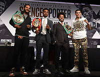 LOS ANGELES - SEPTEMBER 25: (L-R) Anthony Dirrell, ErrolSpence Jr., Shawn Porter, and David Benavidez attend the final press conference for their September 28 fight on the Fox Sports PBC Pay-Per-View fight night on September 25, 2019 in. Los Angeles, California. (Photo by Frank Micelotta/Fox Sports/PictureGroup)