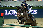 Katharina Offel of Ukraine rides Charlie in action at the Longines Grand Prix during the Longines Hong Kong Masters 2015 at the AsiaWorld Expo on 15 February 2015 in Hong Kong, China. Photo by Aitor Alcalde / Power Sport Images
