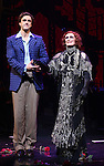 Michael Xavier and Glenn Close during the Opening Night Curtain Call bows for Andrew Lloyd Webber's 'Sunset Boulevard' at the Palace Theatre on February 9, 2017 in New York City.