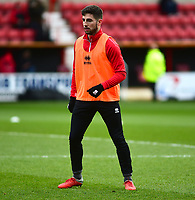 Lincoln City's Tom Pett during the pre-match warm-up<br /> <br /> Photographer Andrew Vaughan/CameraSport<br /> <br /> The EFL Sky Bet League Two - Swindon Town v Lincoln City - Saturday 12th January 2019 - County Ground - Swindon<br /> <br /> World Copyright &copy; 2019 CameraSport. All rights reserved. 43 Linden Ave. Countesthorpe. Leicester. England. LE8 5PG - Tel: +44 (0) 116 277 4147 - admin@camerasport.com - www.camerasport.com