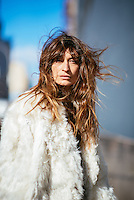 Caroline de Maigret attends Day 8 of New York Fashion Week on Feb 19, 2015 (Photo by Hunter Abrams/Guest of a Guest)