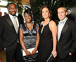 From left: Imo Aisiku, Rose Senegal, Misty Kruppa and Gabe Urban at the 2010 Circle of Life Gala benefitting Pediatric and Adult Centers of Excellence in Neurosciences at the Hilton Americas Houston Saturday May 08,2010.  (Dave Rossman Photo)