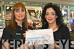 Elaine Hearne Shiseido Area Manager (right) presents Madeline Griffin Killarney with the Shiseido Pharmacy Beauty Consultant of the year award in  McSweeney's Pharmacy Killarney on Tuesday   Copyright Kerry's Eye 2008