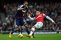 Steven N'Zonzi of Stoke City vies for the ball with Alex Oxlade Chamberlain of Arsenal during the  English Premier League soccer match between Arsenal and Stoke City in London,UK,02 February  2012.THOMAS CAMPEAN/Pixel8000 Ltd...