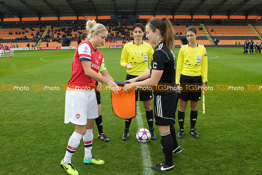Teams exchange souvenirs - Arsenal Ladies vs Glasgow City LFC - UEFA Womens Champions League Round of 16 First Leg Football at the Hive Stadium, Barnet FC, London - 09/11/13 - MANDATORY CREDIT: George Phillipou/TGSPHOTO - Self billing applies where appropriate - 0845 094 6026 - contact@tgsphoto.co.uk - NO UNPAID USE