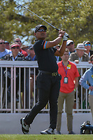 Yusaku Miyazato (JAP) watches his tee shot on 7 during round 1 of the World Golf Championships, Dell Match Play, Austin Country Club, Austin, Texas. 3/21/2018.<br /> Picture: Golffile | Ken Murray<br /> <br /> <br /> All photo usage must carry mandatory copyright credit (&copy; Golffile | Ken Murray)
