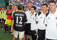 Will Chang, owner of D.C. United greets the team during an international charity match against the national team of El Salvador at RFK Stadium, on June 19 2010 in Washington DC. D.C. United won 1-0.