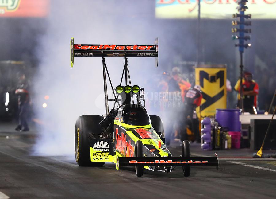 Apr 21, 2017; Baytown, TX, USA; NHRA top fuel driver Troy Coughlin Jr during qualifying for the Springnationals at Royal Purple Raceway. Mandatory Credit: Mark J. Rebilas-USA TODAY Sports
