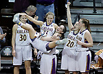 SIOUX FALLS, SD: MARCH 21:  Players on the Ashland bench react as the final seconds tick off the clock they defeat Indiana (PA) to advance to the championship game at the 2018 Division II Women's Basketball Championship at the Sanford Pentagon in Sioux Falls, S.D. (Photo by Dick Carlson/Inertia)