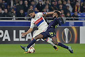2nd November 2017, Nice, France; EUFA Europa League, Olympique Lyonnais versus Everton;  Nabil Fekir (lyon) challenges Beni Baningime (everton)