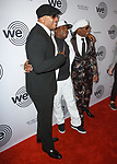 (Left - right) LL Cool J, Grandmaster Flash and Nile Rodgers arrive at the We Are Family Foundation 2018 celebration gala at the Hammerstein Ballroom in New York City, on April 27 2018.