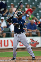 Dawkins, Gookie 3155.jpg.  PCL baseball featuring the New Orleans Zephyrs at Round Rock Express  at Dell Diamond on June 19th 2009 in Round Rock, Texas. Photo by Andrew Woolley.
