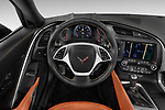 Car pictures of steering wheel view of a 2019 Chevrolet Corvette Stingray Convertible 2LT 2 Door Convertible