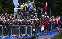 04 JUL 2010 - ATHLONE, IRL - Competitors wait for the start of the European Elite Mens Triathlon Championships .(PHOTO (C) NIGEL FARROW)