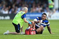 Anthony Perenise of Bath Rugby is treated for an injury. Aviva Premiership match, between Bath Rugby and London Irish on May 5, 2018 at the Recreation Ground in Bath, England. Photo by: Patrick Khachfe / Onside Images