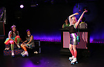 Leah Lane, Hui-Shan Yong, Claire Autran, Maggie Metnick and Dani Martineck during The Dare Tactic production of 'A Roller Rink Temptation' at  WOW Cafe on May 25, 2018 in New York City.