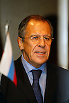 Dec 2, 2009 - Athens, Greece - The Russian Minister of Foreign Affairs Sergey Lavrov speak at the Greek-Russian Union in Athens Music Hall. Credit Aristidis Vafeiadakis/ZUMA Presss