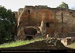 Retaining Walls below Temple of Jupiter Domitian Palatine Hill Rome