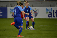 20190304 - LARNACA , CYPRUS : Finnish midfielder Adelina Engman pictured during a women's soccer game between Finland and Korea DPR , on Monday 4 March 2019 at the Antonis Papadopoulos Stadium in Larnaca , Cyprus . This is the third game in group A for Both teams during the Cyprus Womens Cup 2019 , a prestigious women soccer tournament as a preparation on the Uefa Women's Euro 2021 qualification duels. PHOTO SPORTPIX.BE | STIJN AUDOOREN