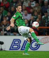 FUSSBALL   1. BUNDESLIGA    SAISON 2012/2013    8. Spieltag   SV Werder Bremen - Borussia Moenchengladbach  20.10.2012 Marko Arnautovic (SV Werder Bremen) am Ball