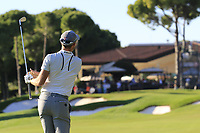 Danny Willett (ENG) plays his 2nd shot on the 18th hole during Friday's Round 2 of the 2018 Turkish Airlines Open hosted by Regnum Carya Golf &amp; Spa Resort, Antalya, Turkey. 2nd November 2018.<br /> Picture: Eoin Clarke | Golffile<br /> <br /> <br /> All photos usage must carry mandatory copyright credit (&copy; Golffile | Eoin Clarke)