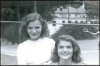 BNPS.co.uk (01202 558833)<br /> Pic: RRAuctions/BNPS<br /> <br /> Jackie Kennedy (right) with younger sister Lee Bouvier.<br /> <br /> Candid never before seen photos of Jackie Kennedy as a 16 year old have come to light.<br /> <br /> The snaps are believed to have been taken in the summer of 1945 at The Homestead, a luxury holiday resort in Hot Springs, Virginia.<br /> <br /> At the time, Jackie, who would later marry US president John F Kennedy, was between terms at the prestigious Miss Porter's School in Connecticut, US.<br /> <br /> They are being sold at auction alongside a heart-wrenching letter penned by Jackie just nine days after the assassination of JFK.