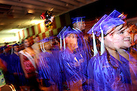 Undocumented Students line up on graduation day for their High School Deploma..Photo by AJ Alexander