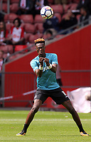 Tammy Abraham of Swansea City practices headers prior to the Premier League match between Southampton and Swansea City at the St Mary's Stadium, Southampton, England, UK. Saturday 12 August 2017