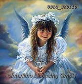CHILDREN, KINDER, NIÑOS, paintings+++++,USLGSK0110,#K#, EVERYDAY ,Sandra Kock, victorian ,angels