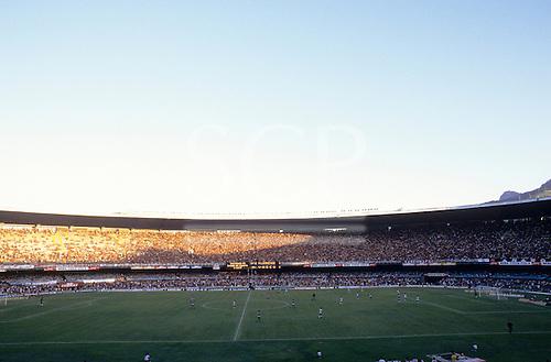Rio de Janeiro, Brazil. Football match; Maracana football stadium.
