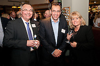 From left are Andrew Madden of Gateley, Jason Holland of Leumi ABL and Jill Tomasin of Gatleley