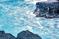 Blurred waves. Kauai, Hawaii.