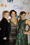 As The World Turns' Yvonne Perry nominated for Super Knocked Up and is a presenter poses with Lauren B. Martin and Yvonne Perry at We Love Soaps and The Indie Series Network present the 4th Annual Indie Soap Awards - ISAs on February 19, 2013 from New World Stages, New York City, New York (Photo by Sue Coflin/Max Photos)