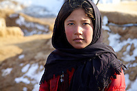 Young girl at Qalin Bafan Returnee Site, North Afghanistan