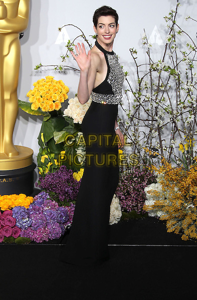 02 March 2014 - Hollywood, California - Anne Hathaway. 86th Annual Academy Awards held at the Dolby Theatre at Hollywood &amp; Highland Center.<br /> <br /> CAP/ADM/RE<br /> &copy;Russ Elliot/AdMedia/Capital Pictures