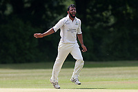 Z Shahzad in bowling action for Wanstead during Wanstead and Snaresbrook CC vs Ilford CC, Shepherd Neame Essex League Cricket at Overton Drive on 17th June 2017 Z Shahzad of Wanstead celebrates taking the wicket of N Gabhawala during Wanstead and Snaresbrook CC vs Ilford CC, Shepherd Neame Essex League Cricket at Overton Drive on 17th June 2017
