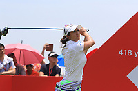 Marina Alex (USA) in action on the 18th during Round 4 of the HSBC Women's World Championship 2018 at Sentosa Golf Club on the Sunday 4th March 2018.<br /> Picture:  Thos Caffrey / www.golffile.ie<br /> <br /> All photo usage must carry mandatory copyright credit (&copy; Golffile | Thos Caffrey)
