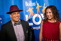 LAS VEGAS, NV - July 14, 2016: Napoleon Buddy D'umo and Tabitha A. D'umo aka Nappytabs pictured arriving at The Beatles LOVE by Cirque Du Soleil at The Mirage Resort in Las vegas, NV on July 14, 2016. Credit: Erik Kabik Photography/ MediaPunch