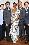 Matthew Saldivar, John Glover, Condola Rashad, Patrick Page and Max Gordon Moore attends the Broadway Opening Night After Party for 'Saint Joan' at the Copacabana on April 25, 2018 in New York City.