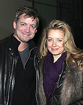 Chris Henry Coffey and Jennifer Mudge attending the Opening Night Performance of 'The Whale' at Playwrights Horizons' Peter Jay Sharpe Theater in New York City on 11/05/2012