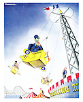 (A pilot feels airsick on a fairground ride)