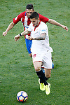 Atletico de Madrid's Koke Resurrecccion (b) and Sevilla FC's Stevan Jovetic during La Liga match. March 19,2017. (ALTERPHOTOS/Acero)