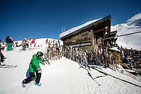 Ski slope restaurant 'Le Relais de l'Aiguille', La Clusaz, France, 14 February 2012.