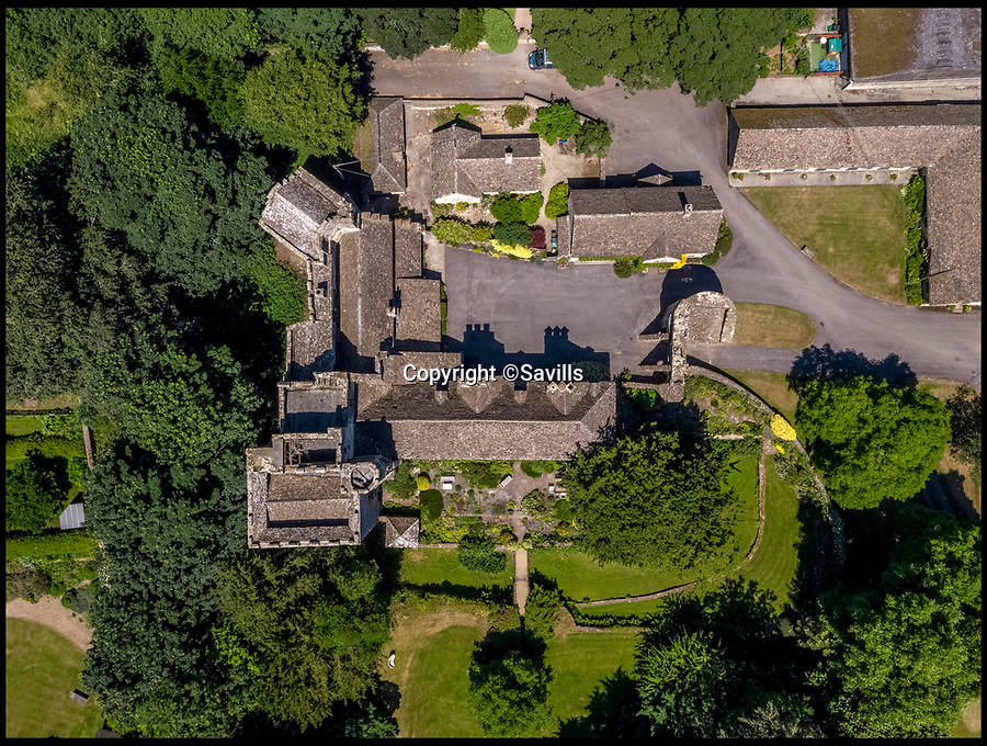 BNPS.co.uk (01202)558833<br /> Pic:   Savills/BNPS<br /><br />A 800 year old castle that stands over Prince Charles' Highgrove estate and was left a ruin by the Civil War has gone on the market for £10m.<br /> <br /> Beverston Castle, on the outskirts of Tetbury, Gloucs, is only partly habitable today but has a charming seven bedroom manor house built on to it.<br /> <br /> The historic property, that comes with a huge 693 acres of land, had been owned for 70 years by the late showjumper Major Laurence Rook and his wife Jane.<br /> <br /> The couple were famed for the hospitality they laid on to visitors of the week-long Badminton Horse Trials which is nearby.