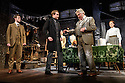 London, UK. 13.06.2016. HOBSON's CHOICE, by Harold Brighouse, opens at the Vaudeville theatre in the West End. Directed by Jonathan Church, with lighting design by Tim Mitchell and set & costume design by Simon Higlett. Picture shows: Ryan Saunders (Freddie Beenstock), Joe Bannister (Albert Prosser), Gabrielle Dempsey (Vickey Hobson), Florence Hall (Alice Hobson),  Martin Shaw (Henry Horatio Hobson), Naomi Frederick (Maggie Hobson). Photograph © Jane Hobson.