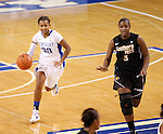 UK guard Maegan Conwright brings the ball up court during the second half of the UK Women's basketball game against Southern Miss on 11/19/11 in Lexington, KY. Photo by Quianna Lige | Staff