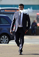 """COPY BY TOM BEDFORD<br /> Pictured: Kamrul Islam arrives at Merthyr Magistrates Court, Wales, UK. Monday 03 April 2017<br /> Re: Chef Kamrul Islam who attacked a client with chilli powder is due to appear before Merthyr Tydfil Magistrates Court.<br /> David Evans was at the Prince of Bengal restaurant on Saturday night when the incident took place.<br /> The 46-year-old was out for dinner with his wife Michelle when they were asked by a waiter if they were enjoying their curry.<br /> The couple said they told the waiter their meal was """"tough and rubbery"""" and he passed the complaint onto the head chef.<br /> Michelle said chilli powder was then thrown into her husband's eyes and he was taken to hospital."""