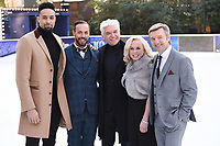 "Ashley Banjo, Jason Gardiner, Phillip Schofield, Jayne Torvill a<br /> at the ""Dancing on Ice"" launch photocall, natural History Museum, London<br /> <br /> <br /> ©Ash Knotek  D3365  19/12/2017"
